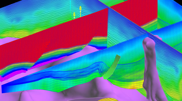Image of a reservoir characterization.