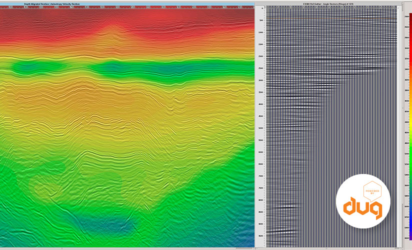 Graphing seismic data with DUG