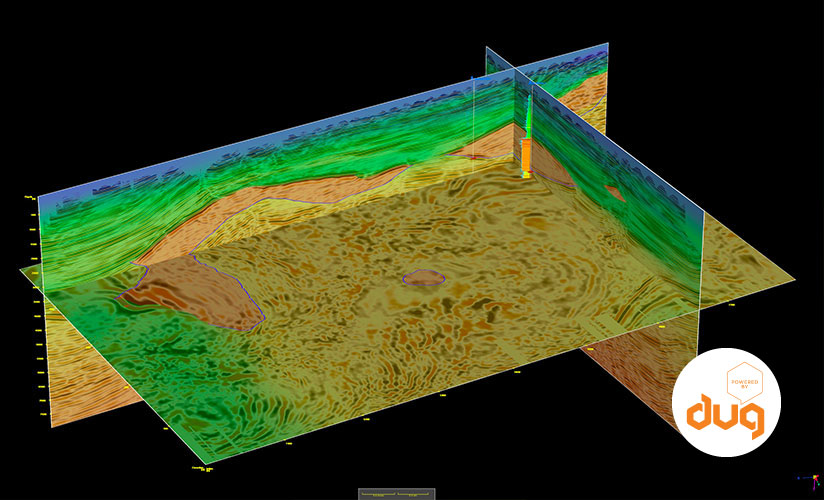 3d image of a seismic process